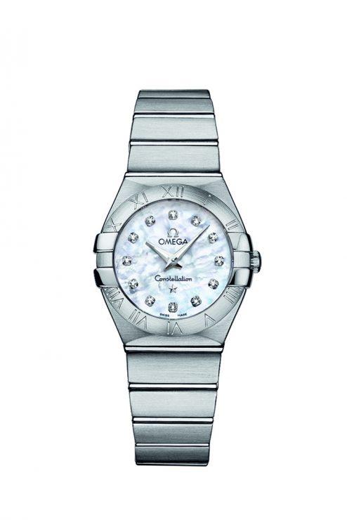 Omega Constellation 24mm Steel & 18ct Rose Gold Ladies Watch