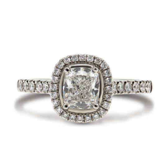 Platinum trilogy 0.32ct diamond ring