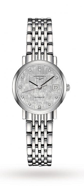 Longines Elegant 25mm Stainless Steel Ladies Watch