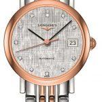 Longines Elegant 255mm Steel and Rose Gold Ladies Watch