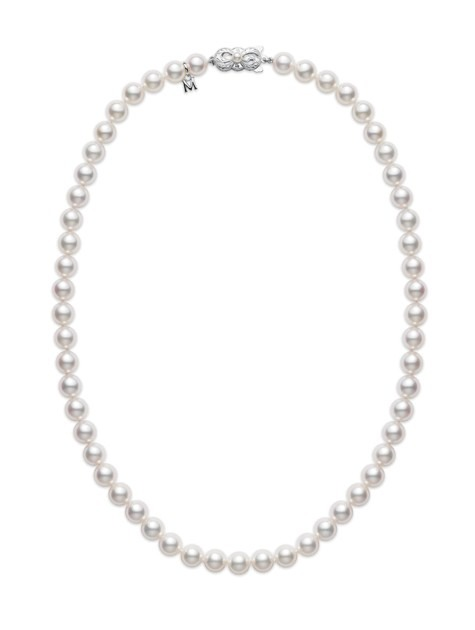 18ct 5/5.25mm pearl + chain