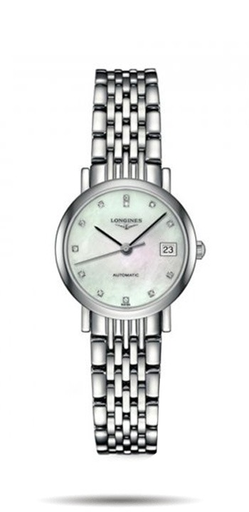 Longines Elegance Stainless Steel+Rose Gold Gents Watch