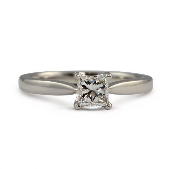 Platinum Classic Princess 0.61 Diamond Ring