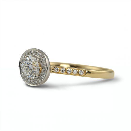 18ct Yellow Gold & Platinum Dulcina 0.50ct Diamond Ring