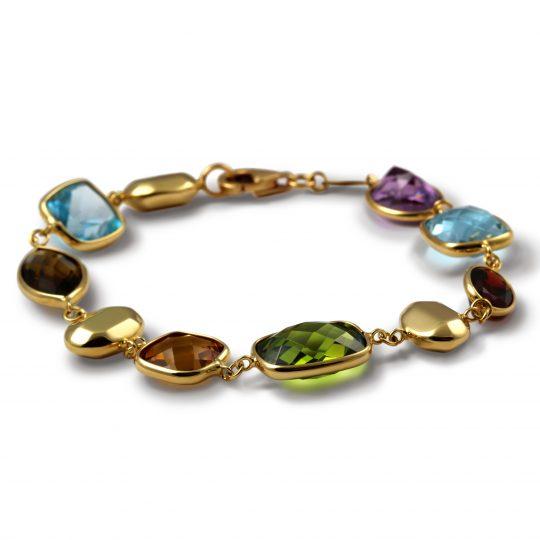 9ct Yellow Multi stone bracelet