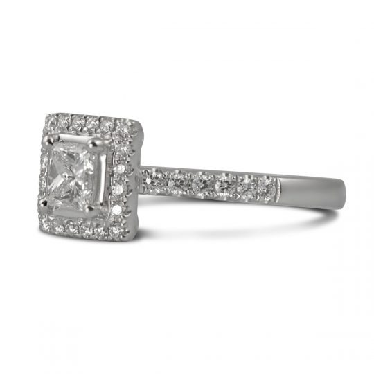 Platinum Skye 0.91ct Diamond Ring