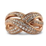 18ct Rose Gold Diamond Cocktail Ring