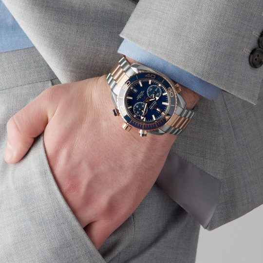 Omega PlanetOcean 46mm Stainless Steel – Sedna Gold Gents Watch