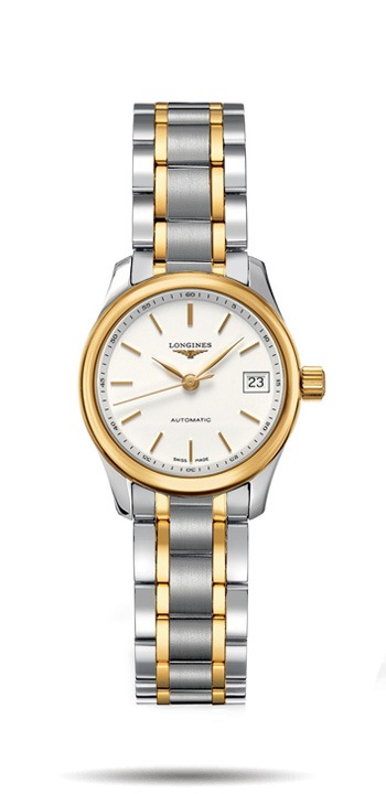 Longines Master Collection Stainless Steel and Yellow Gold Ladies Watch