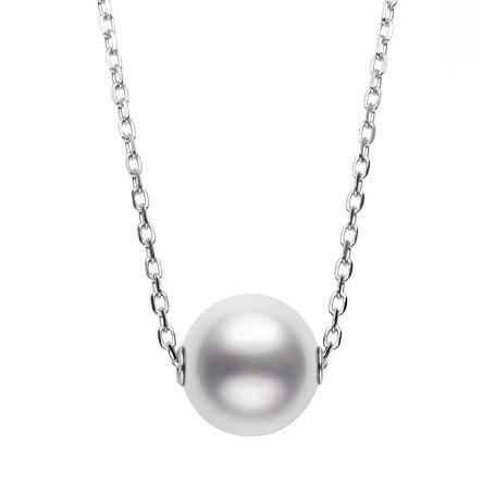 18ct White gold Mikimoto Pearl Chain
