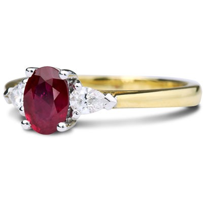 18ct Yellow Gold Ruby and Diamond Ruby Cocktail Ring