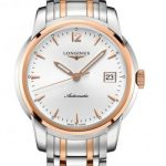 St Imier Silver and Rose Gold Automatic silver dial
