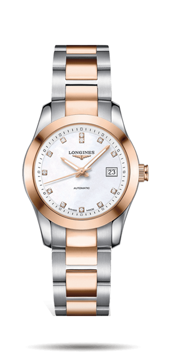 Longines Conquest 29.5mm Stainless Steel Ladies Watch