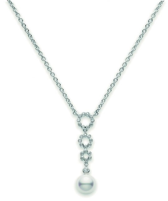 18ct White Gold Pearl Necklace
