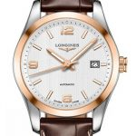 Longines Conquest Stainless Steel and rose gold Watch