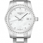 Longines Conquest Diamond Stainless Steel Ladies Watch