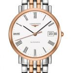 Longines Elegance Stainless Steel and Rose Gold Gents Watch