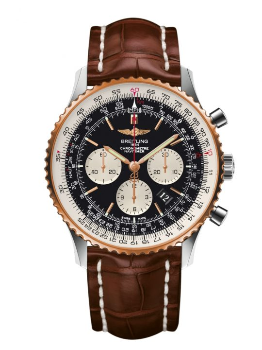 Navitimer 01 46mm red gold bezel