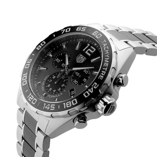 Tag Heuer 43mm Formula 1  Ceramic ans Steel Gents Watch
