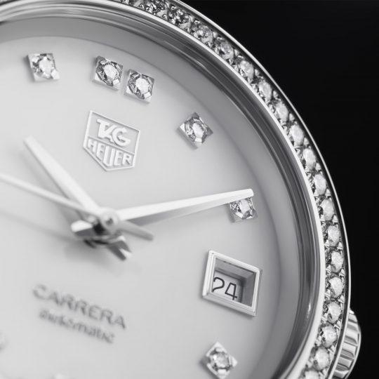 Carrera Automatic Diamond Bezel Mother of Pearl Diamond Dial