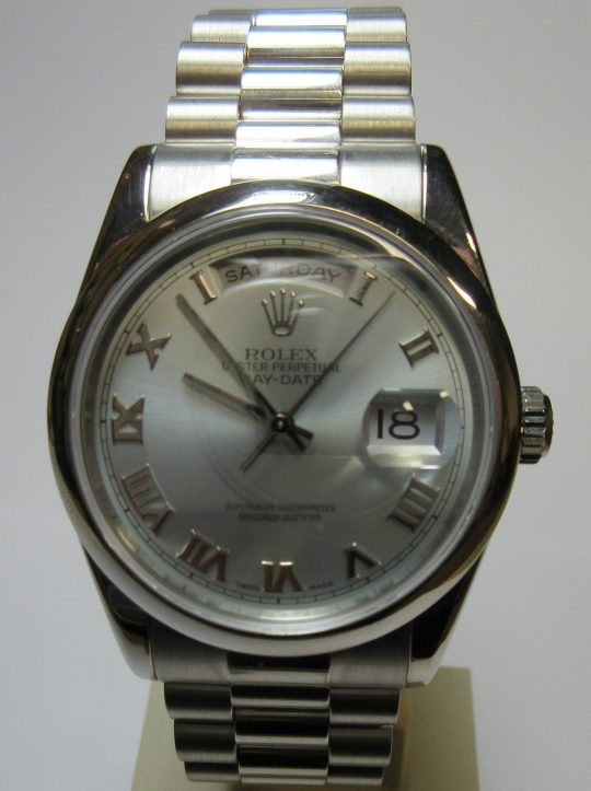Platinum Rolex Oyster Perpetual 36mm Day Date