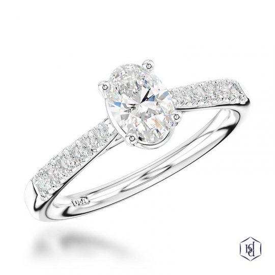 Platinum Classic Skye Oval 0.60ct Diamond Ring