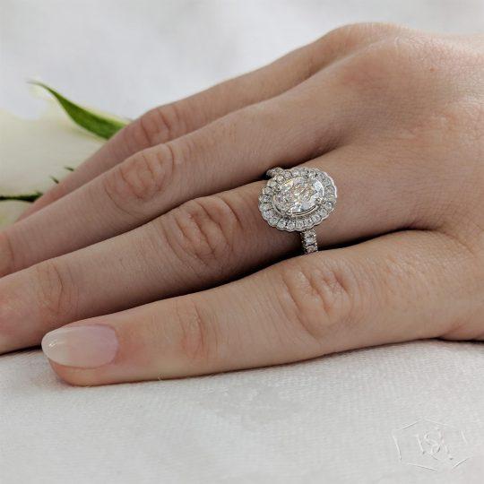 Platinum Faroe 1.24ct Diamond Engagement Ring Plat Faroe oval