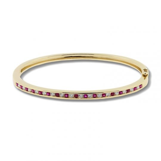9ct Yellow Gold Ruby Bracelet
