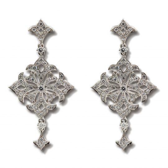 Fancy diamond drop earrings
