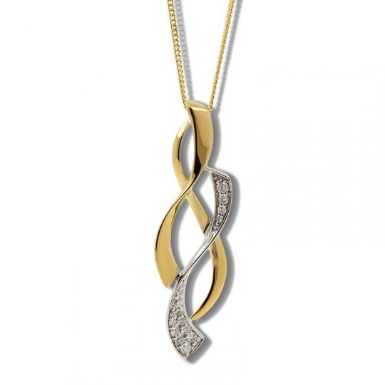 18ct Yellow and White Gold Diamond Necklace