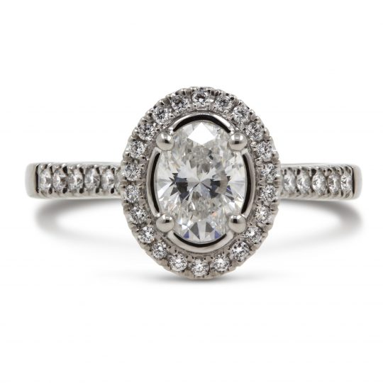 Platinum Skye Oval Diamond Ring