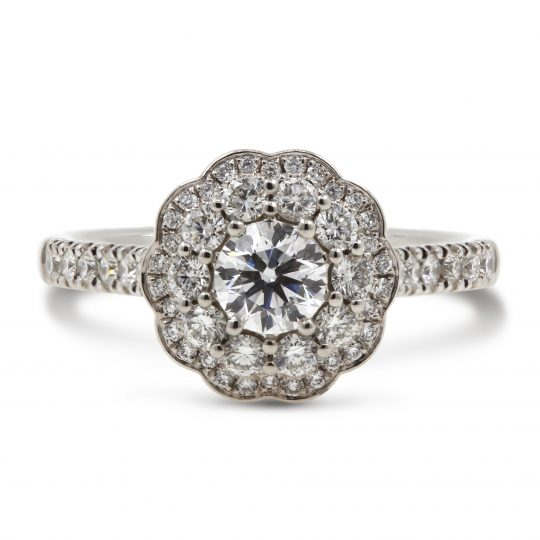 Platinum Savanna Diamond Ring