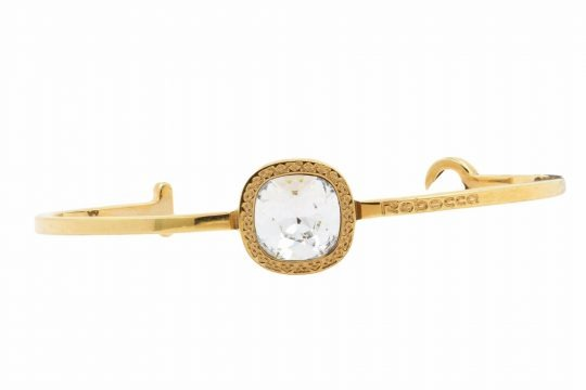 Gold Plated White Crystal Bangle
