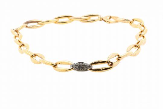 Viventy Rose Gold Plate CZ Set Bracelet