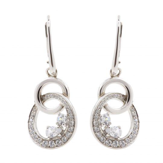 Viventy Silver Cubic zirconia drop Earrings