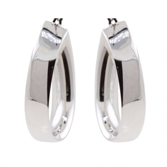Viventy Silver twist hoop earrings