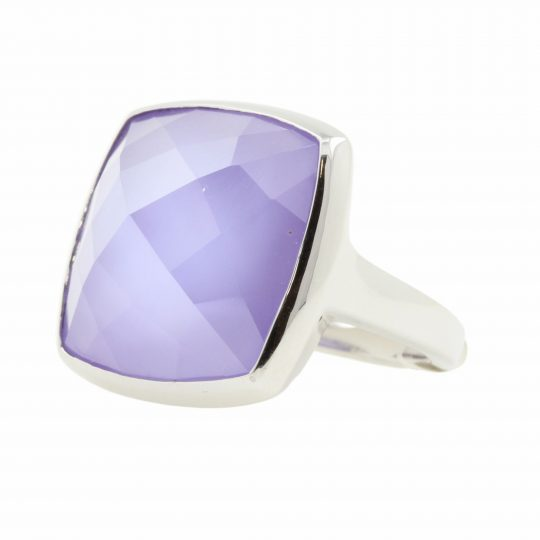 Viventy Purple Stone Silver Ring