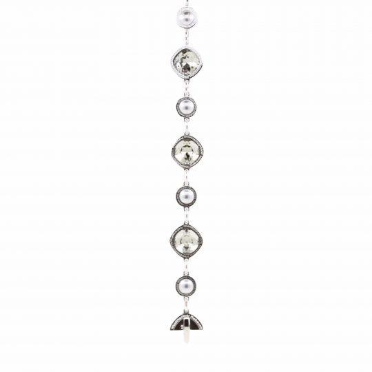 Rebecca White Gold Plated, Grey Crystal Bracelet