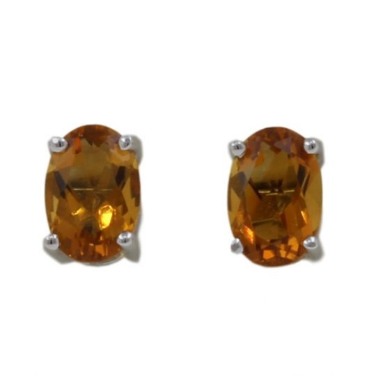 18ct White Gold .81ct Citrine