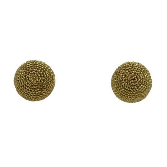 18ct yellow stud earrings