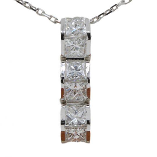18ct White Gold .60ct Diamond Pendant
