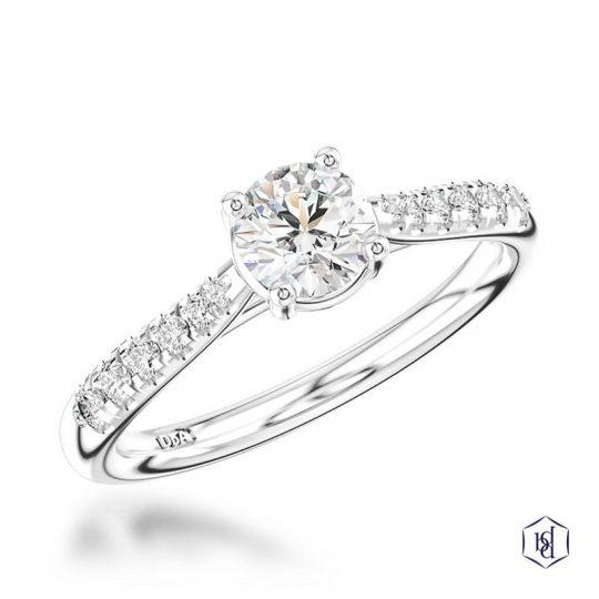 Platinum Classic Skye 0.70ct Diamond Ring
