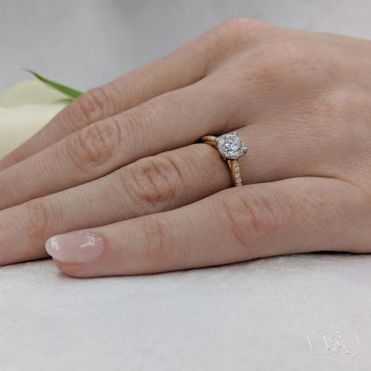 18ct Yellow Gold 0.81ct Diamond Engagement Ring