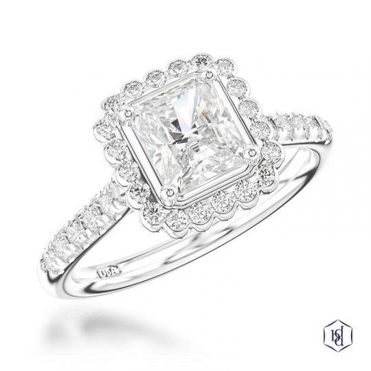 Platinum Skye Princess 0.30cts Diamond Ring