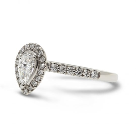 Platinum Skye pear 0.32 Diamond Ring