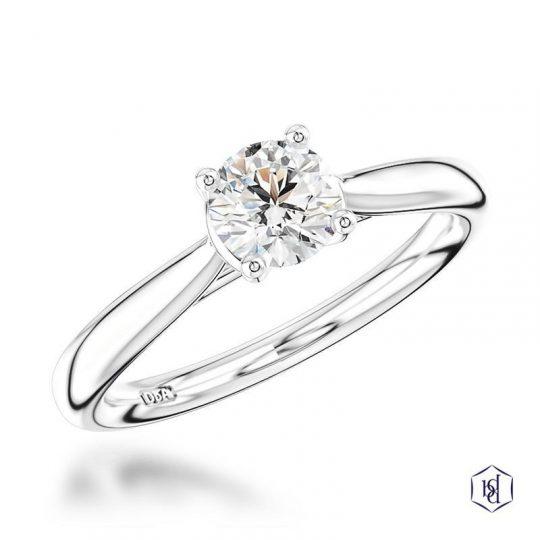 Platinum 0.51ct Diamond Engagement Ring