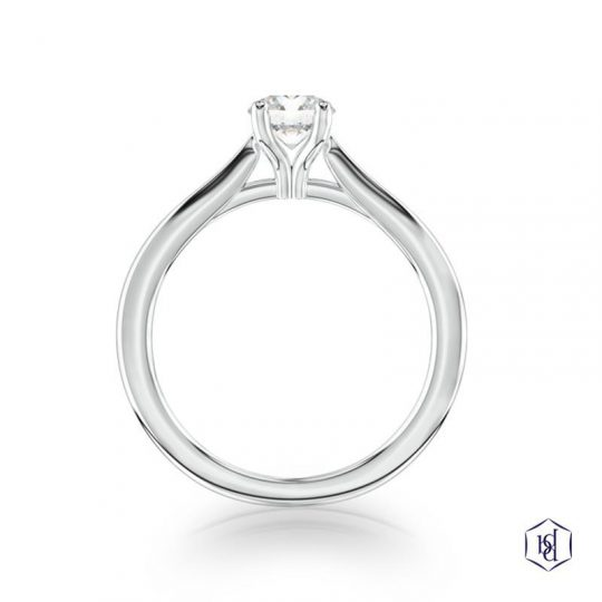 Platinum 0.70ct Diamond Engagement Ring