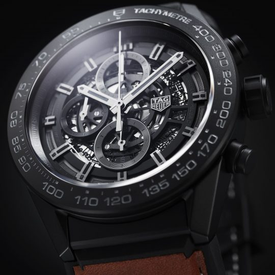 Tag Heuer Carrera 45mm Black ceramic Gents Watch