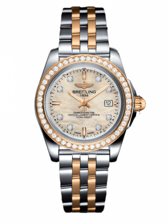 Breitling Galactic 32mm Sleek Edition Steel and Rose Gold Ladies Watch