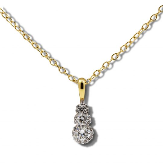 18ct Gold Diamond Necklace
